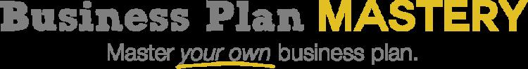 Business Plan Mastery Logo - Grey with Slogan